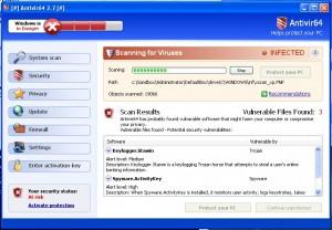 Computer Viruses - Rogue Security Software Snapshot